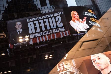 tagreuters.com2020binary_LYNXMPEG9N0NF-VIEWIMAGE Jared and Ivanka threaten lawsuit over Times Square billboards Top Stories U.S. [your]NEWS