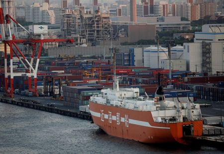 Japan's exports seen rising for first time in two years, core CPI to drop further: Reuters poll