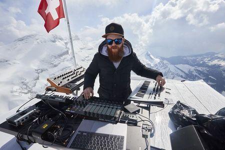 French techno musician rocks Swiss mountain tops