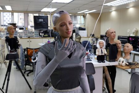 tagreuters.com2021binary_LYNXMPEH0O020-VIEWIMAGE Makers of Sophia the robot plan mass rollout amid pandemic Science & Technology [your]NEWS