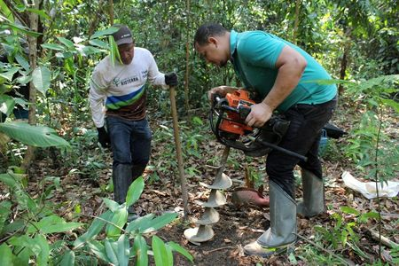 tagreuters.com2021binary_LYNXMPEH0A0P1-VIEWIMAGE Wielding machetes and calipers, sweat-soaked scientists count carbon in Amazon Science & Technology [your]NEWS