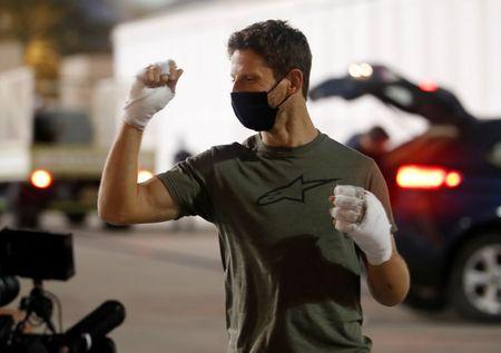 Mercedes willing to organise farewell test for injured Grosjean