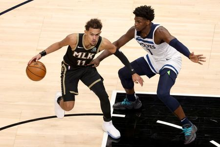 tagreuters.com2021binary_LYNXMPEH0I08B-VIEWIMAGE NBA: De'Andre Hunter helps Hawks knock off Wolves Basketball Sports [your]NEWS