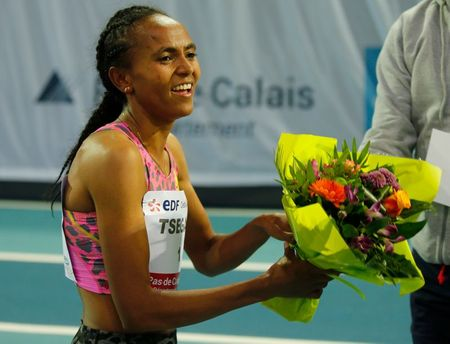 Athletics: Tsegay smashes 1500m indoor world record