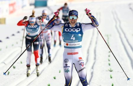 tagreuters.com2021binary_LYNXMPEH1O0X3-VIEWIMAGE Klaebo leads Norway's sprint clean sweep, Sundling wins for Sweden Sports Winter Sports [your]NEWS