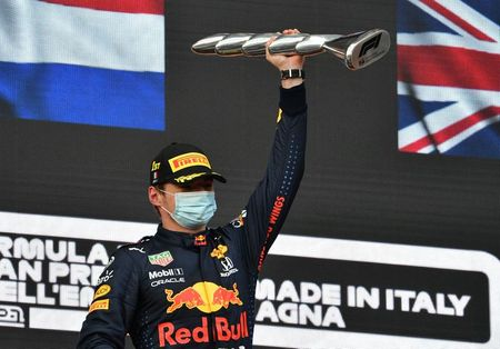 Motor racing-Verstappen wins at Imola as Hamilton fights back
