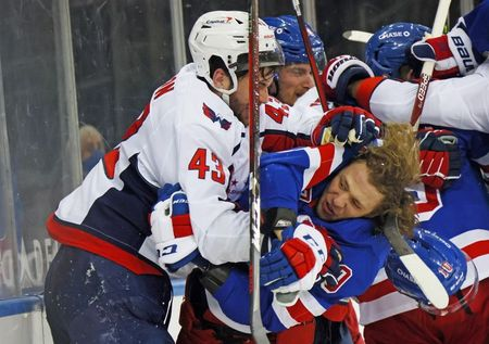 NHL-Brawls break out as Rangers look for payback on Caps' Wilson