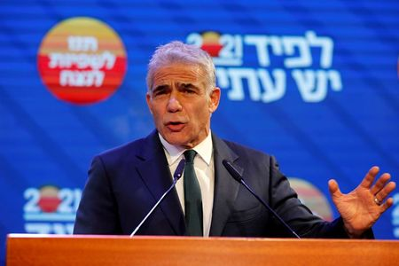 tagreuters.com2021binary_LYNXMPEH4413L-VIEWIMAGE Israel's president picks Netanyahu opponent Lapid to form government World [your]NEWS