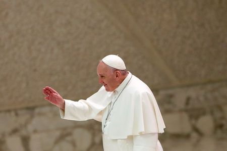 Pope says 'lady' COVID must be obeyed, forgoes mask