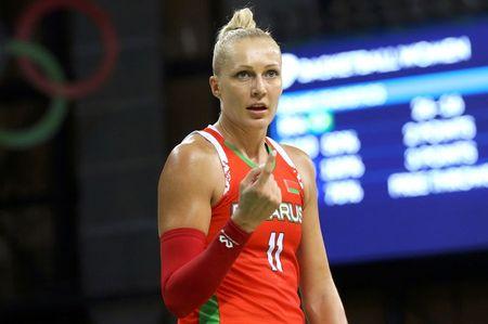 Jailed for protesting, Belarus basketball star speaks out for political change