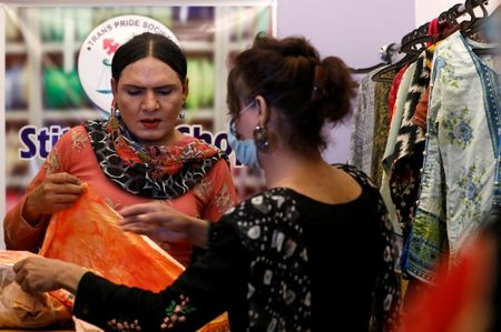 Pakistani transgender woman finds a niche in tailoring